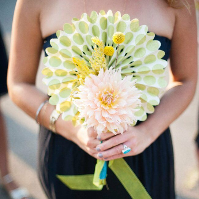 Paper Flower Bridesmaid Bouquet