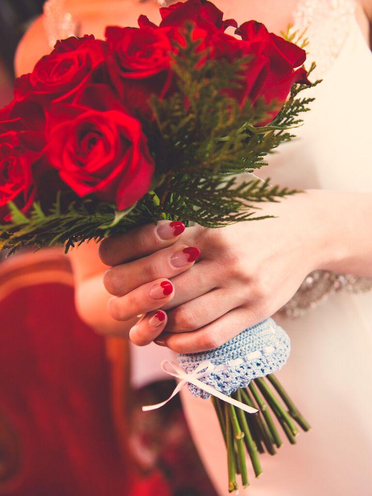 Valentine's Day wedding manicure