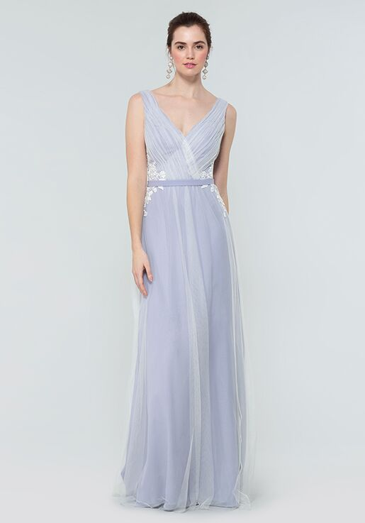 Kleinfeld Bridesmaid KL-200008 V-Neck Bridesmaid Dress