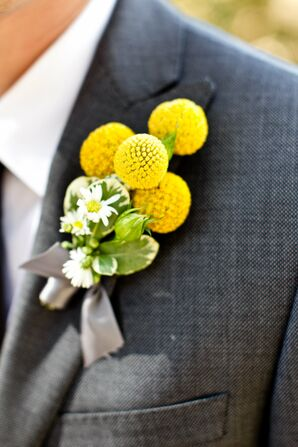 Yellow Craspedia Boutonniere