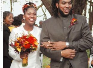 Kimberly and Douglas' guests enjoyed an outdoor celebration that paid tribute to heritage and family.  The Bride Kimberly Graham, 30, human resources