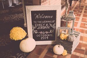 The Fall Themed Chalkboard Welcome Sign