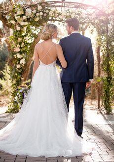 Essense of Australia D2408 A-Line Wedding Dress