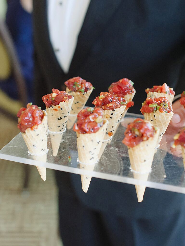 Tuna Tartare Wedding Reception Etizer