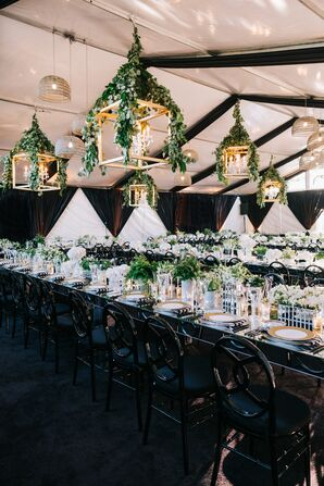 Lantern-Lined Reception Tent
