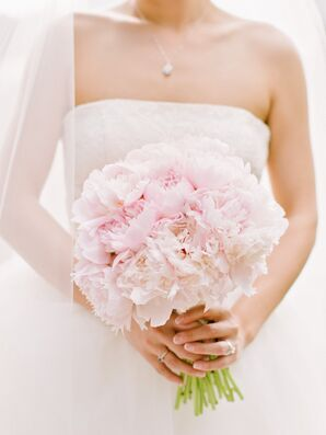 Fluffly Blush Peony Bridal Bouquet