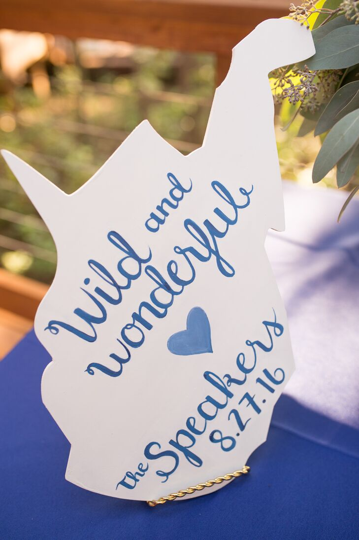 Hand-Painted West Virginia Wedding Sign