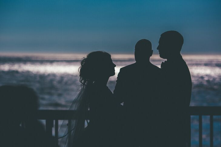 Ceremony on the Patio Overlooking Lake Michigan