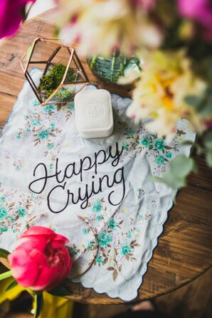 Personalized, Floral-Pattern Handkerchief