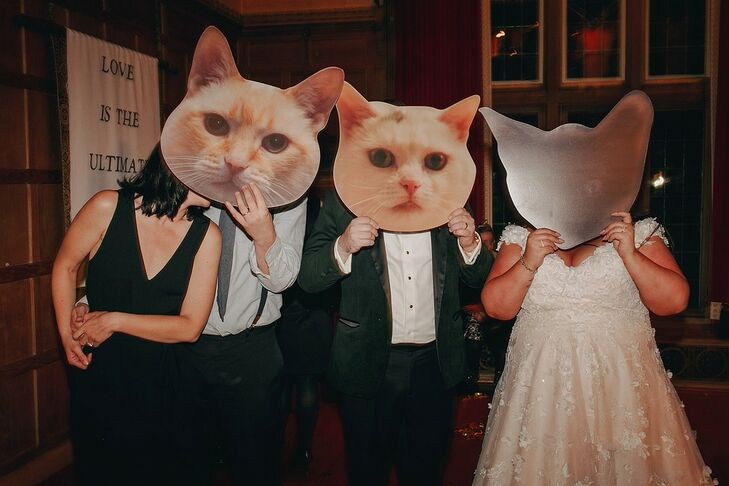 Cat Cutouts for Reception at The Beverly Mansion in Marengo, Ohio