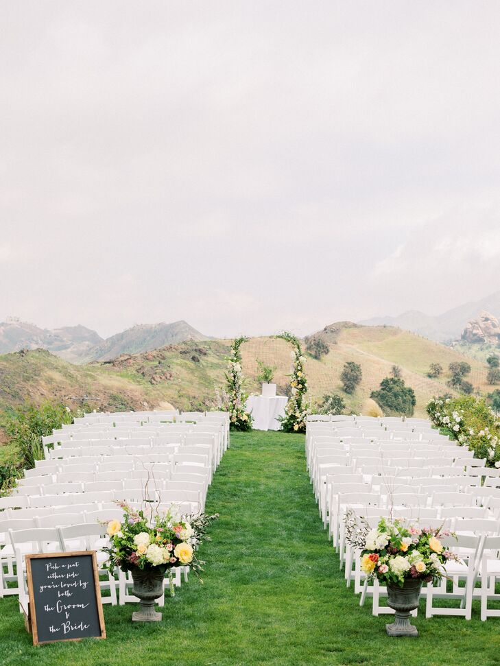 Elegant Outdoor Ceremony Site at Saddlerock Ranch in Malibu, California