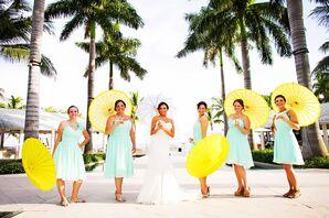 Mint Etsy Knee-Length Summer Bridesmaid Dresses