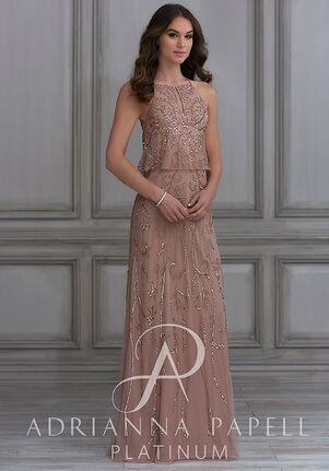 Adrianna Papell Platinum 40119 Halter Bridesmaid Dress