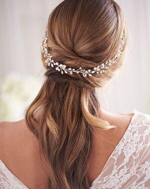 Dareth Colburn Marina Pearl & Crystal Hair Vine (TI-3379) Gold, Silver Headband