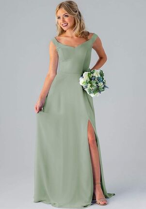 Kennedy Blue Haley Off the Shoulder Bridesmaid Dress