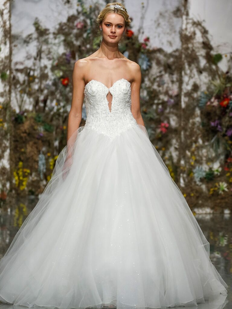 Morilee by Madeline Gardner Spring 2020 strapless ball gown wedding dress with cutout
