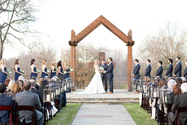 Ceremony at Rock Lake Ranch in College Station, Texas