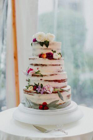 Vanilla Bean and Berry Naked Cake
