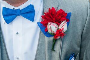 Baseball-Inspired Boutonniere