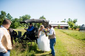 Horse and Carriage Bride's Ceremony Entrance