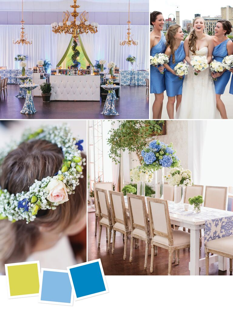 22d0bb4759094 Whimsical spring wedding color combination
