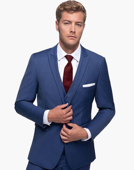 Generation Tux Mystic Blue Peak Lapel Suit Blue Tuxedo