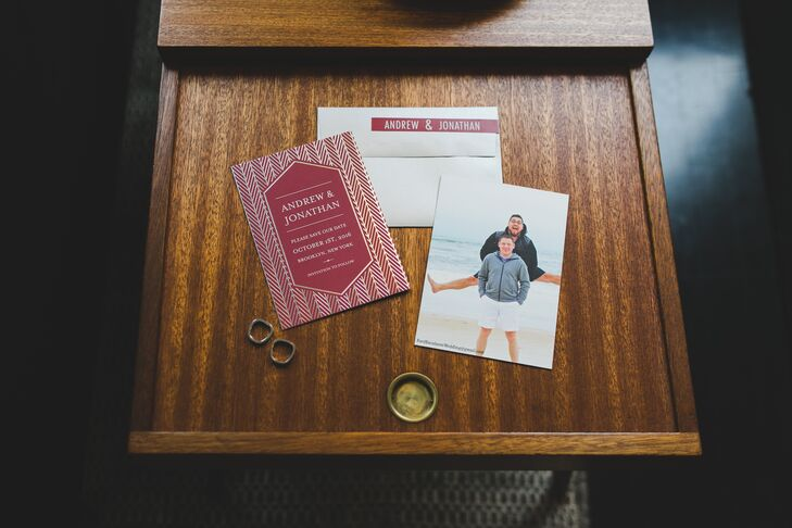 Personalized Modern Burgundy Wedding Invitations