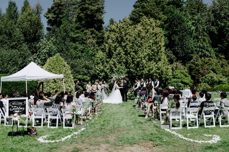 Outdoor Ceremony at Cecil Green Park House in Vancouver