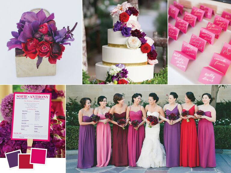 Wedding color palettes we love jewel toned wedding color palette junglespirit Gallery
