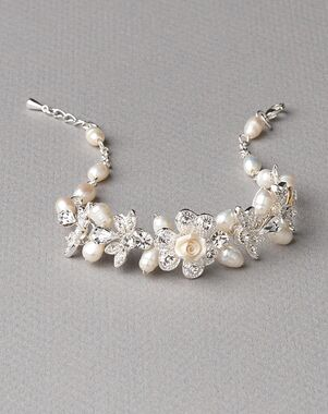 Dareth Colburn Petite Flower Pearl Bracelet (JB-4826) Wedding Bracelet photo