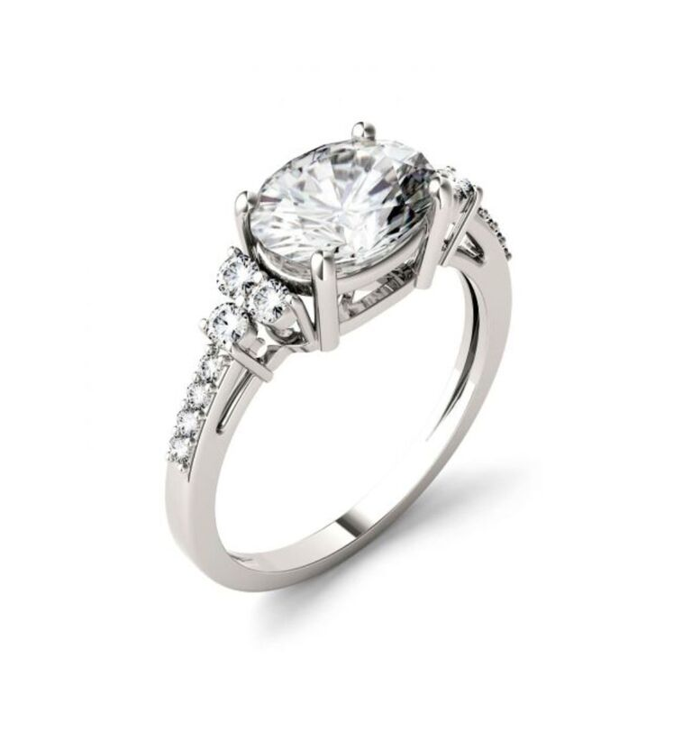 charles and colvard oval ring
