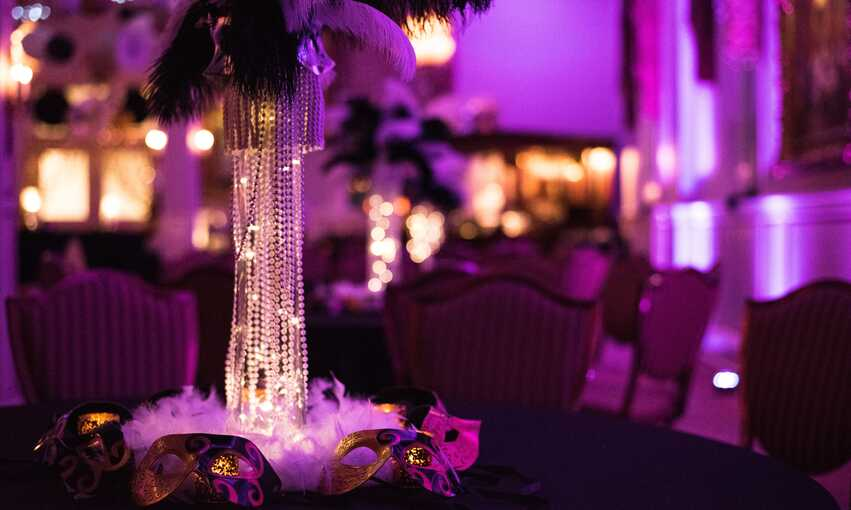 Masquerade party themed inspiration and ideas