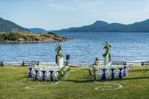 Plum and Green Waterfront Ceremony