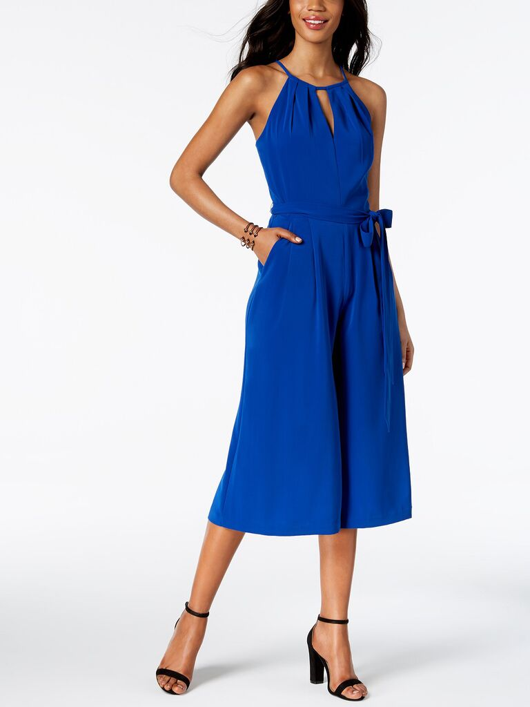 vince camuto sleeveless cropped pant jumpsuit