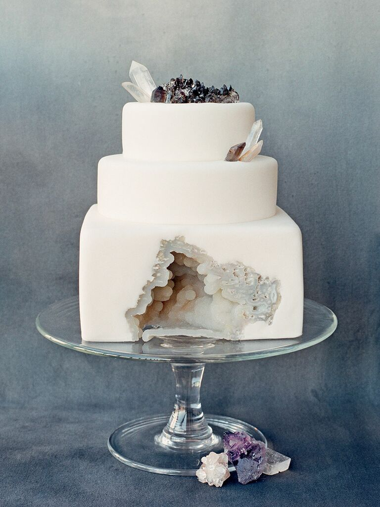 geode unique wedding cake