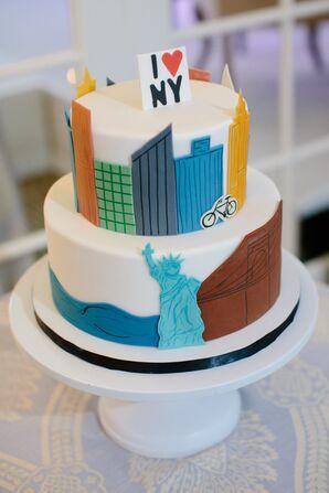 City Skyline Groom's Cake