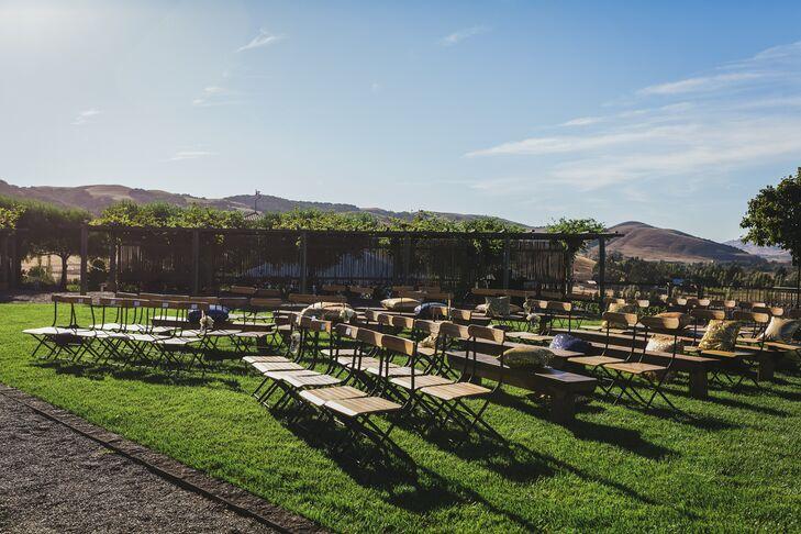 Outdoor Wedding Ceremony at Viansa Vineyard