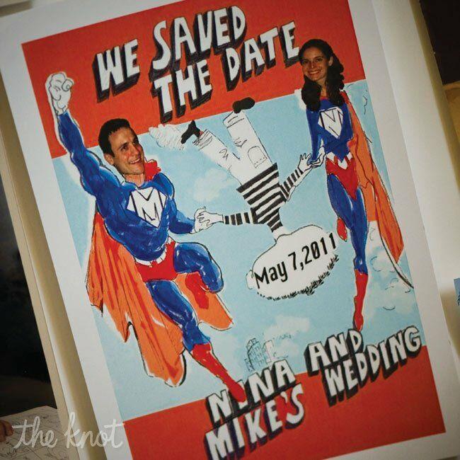 Superhero Themed Save The Dates