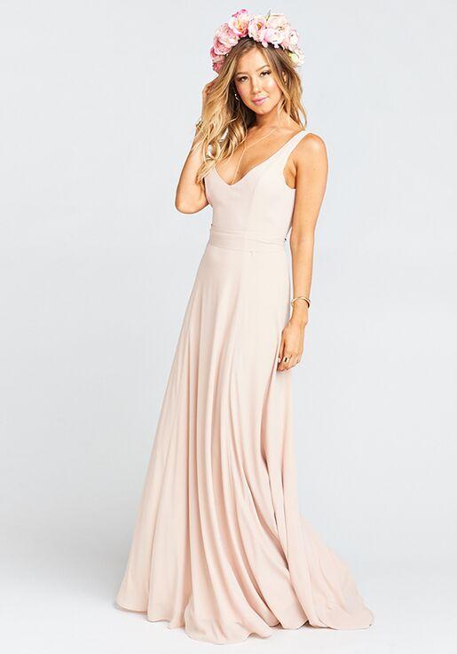 3cf448902831 Show Me Your Mumu Jenn Maxi Dress - Dusty Blush Crisp V-Neck Bridesmaid  Dress