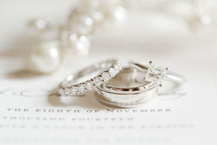Princess Cut Diamond Ring and Infinity Diamond Band