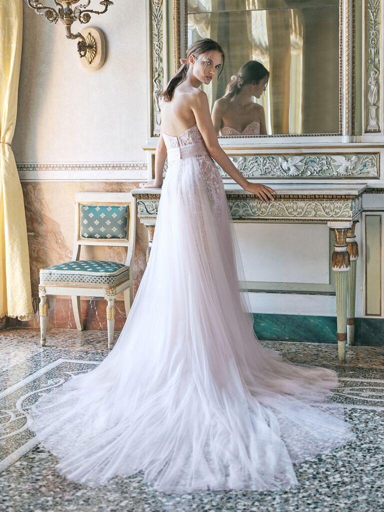 monique lhuillier tulle a-line dress