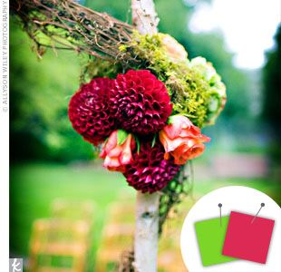 Wedding Color Combo: Pink + Lime Green