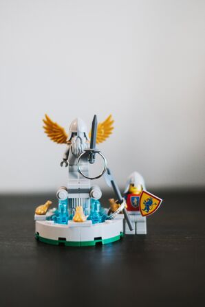 Lego and Wedding Ring Photo Op