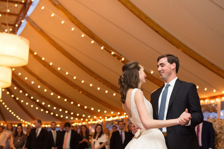 "Before kicking the party into high gear, Danielle and Patrick shared their first dance as husband and wife to ""Perfect Fit"" by Van Morrison, a choice that captured their relationship to a T."