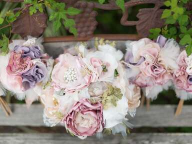 Ornamental Pink and Purple Bouquets