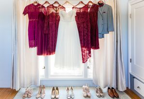Burgundy Lace Bridesmaid Dresses