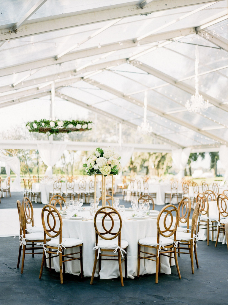 How do you plan a wedding tent