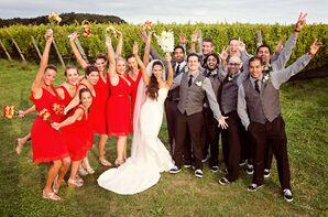 Outdoor Wedding Party Photo