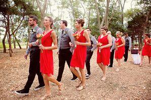 Wedding Party Processional Ceremony Walk