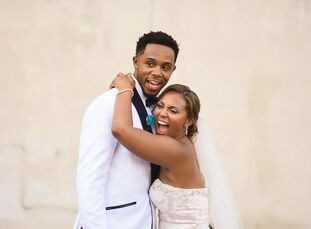 n                    College sweethearts Kierra Scott (26 and a freelance writer and career consultant) and DeVier Posey (26 and a professional footba
